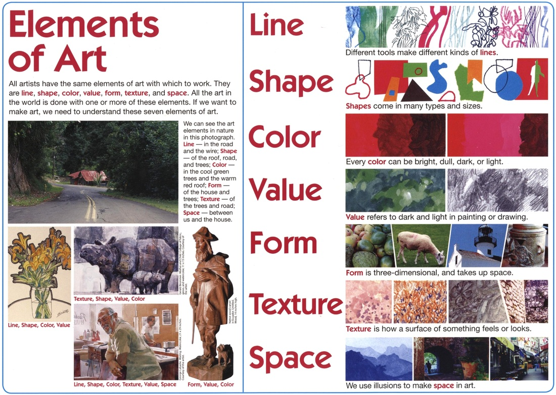 7 Elements And Principles Of Art : Visual arts lesson plan stockton and performing